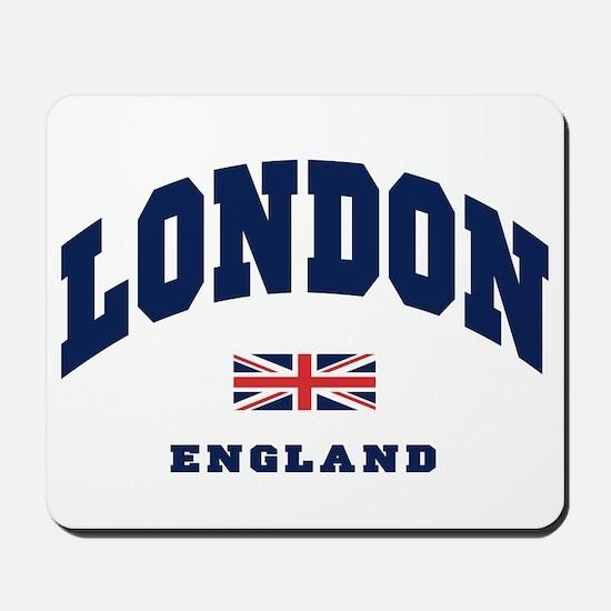 London England Union Jack Mousepad