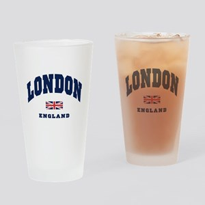 London England Union Jack Drinking Glass