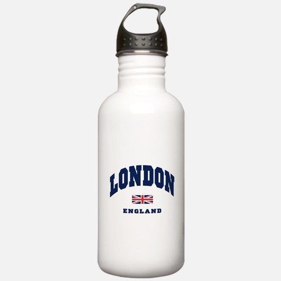 London England Union Jack Water Bottle