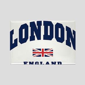 London England Union Jack Rectangle Magnet