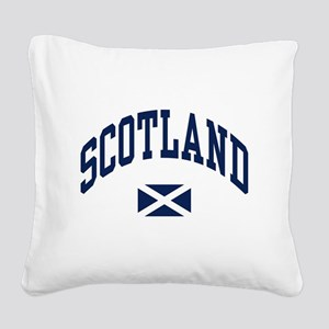 Scotland with Saltire flag Square Canvas Pillow