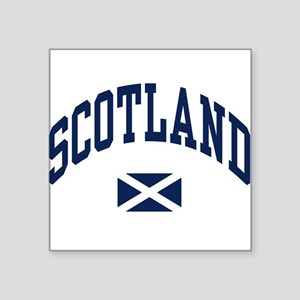 Scotland with Saltire flag Sticker