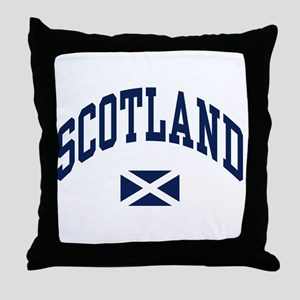 Scotland with Saltire flag Throw Pillow