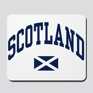 Scotland with Saltire flag Mousepad
