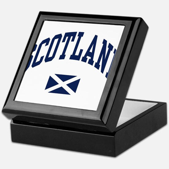Scotland with Saltire flag Keepsake Box