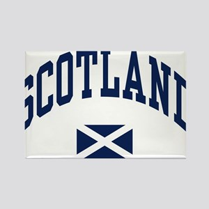 Scotland with Saltire flag Rectangle Magnet