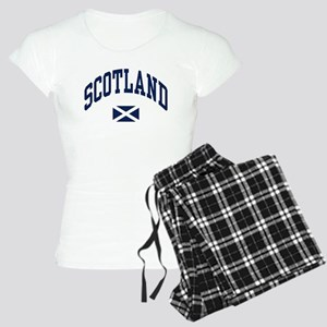 Scotland with Saltire flag Pajamas