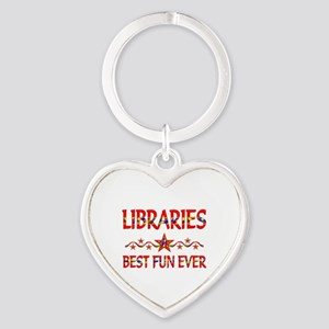 Libraries Best Fun Heart Keychain