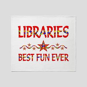 Libraries Best Fun Throw Blanket