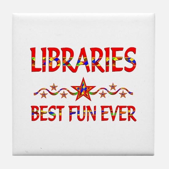 Libraries Best Fun Tile Coaster