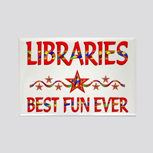 Libraries Best Fun Rectangle Magnet