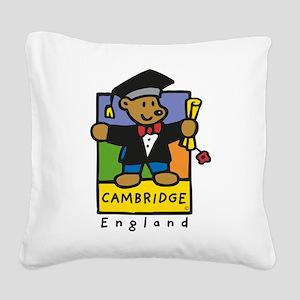 Cambridge academic bear design Square Canvas Pillo