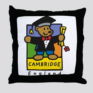 Cambridge academic bear design Throw Pillow