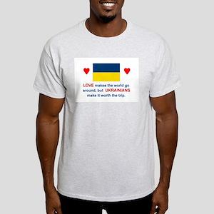 Love Ukrainians Ash Grey T-Shirt