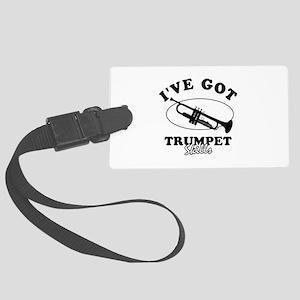 I've got Trumpet skills Large Luggage Tag