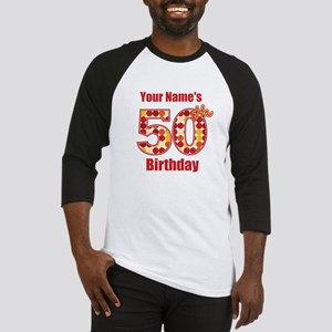Happy 50th Birthday - Personalized! Baseball Jerse
