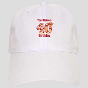 Happy 40th Birthday - Personalized! Baseball Cap