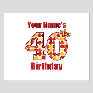 happy 40th birthday posters cafepress