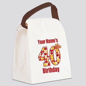 Happy 40th Birthday - Personalized! Canvas Lunch B