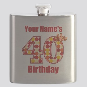 Happy 40th Birthday - Personalized! Flask