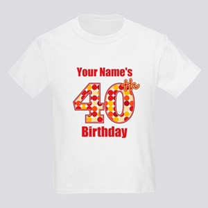 Happy 40th Birthday Kids T Shirts