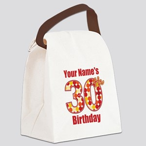 Happy 30th Birthday - Personalized! Canvas Lunch B