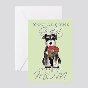 Mini Schnauzer Mom Greeting Card