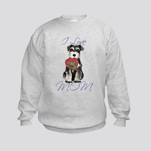 Mini Schnauzer Mom Kids Sweatshirt