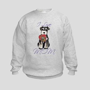 Mini Schnauzer Mom Kids Sweatshirt