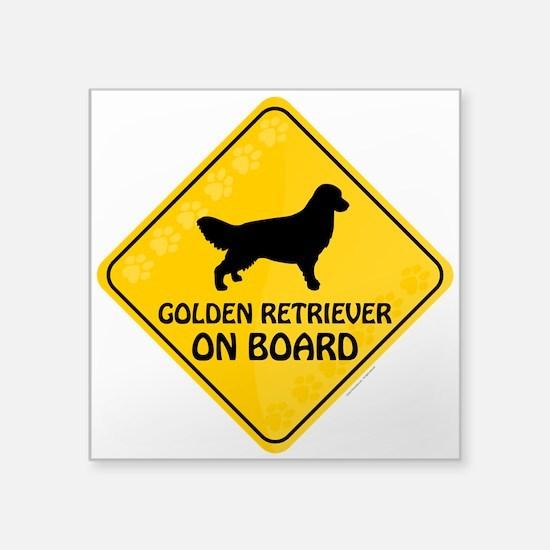 """Golden On Board Square Sticker 3"""" x 3"""""""