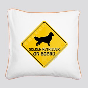 Golden On Board Square Canvas Pillow