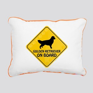 Golden On Board Rectangular Canvas Pillow