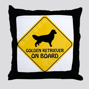 Golden On Board Throw Pillow