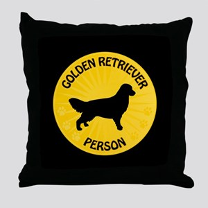 Golden Person Throw Pillow