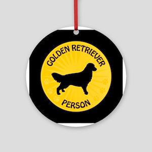 Golden Person Ornament (Round)