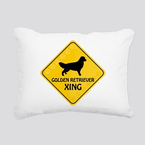 Golden Xing Rectangular Canvas Pillow