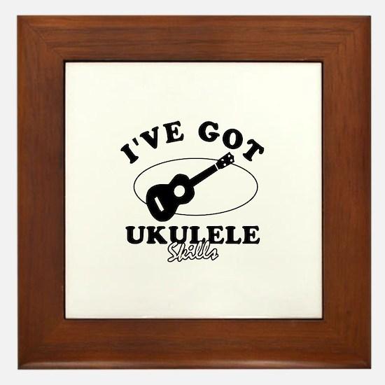 I've got Ukulele skills Framed Tile