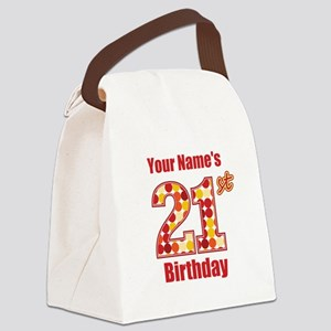Happy 21st Birthday - Personalized! Canvas Lunch B