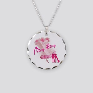 Prissy Sissy Corset Necklace Circle Charm