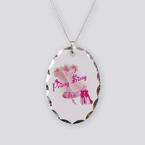 Prissy Sissy Corset Necklace Oval Charm
