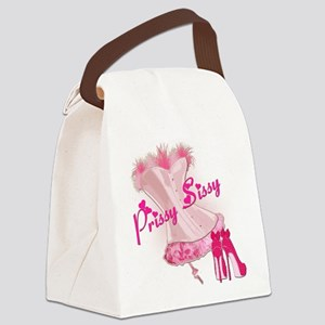 Prissy Sissy Corset Canvas Lunch Bag