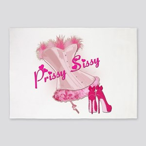 Prissy Sissy Corset 5'x7'Area Rug