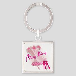 Prissy Sissy Corset Square Keychain