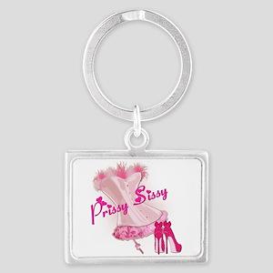 Prissy Sissy Corset Landscape Keychain
