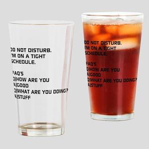 DO NOT DISTURB Drinking Glass