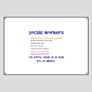 Social worker banners cafepress social work banner colourmoves