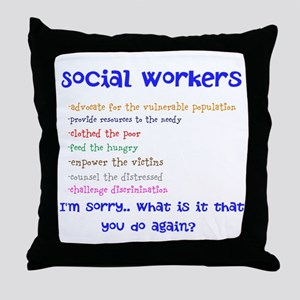 Social Work Throw Pillow