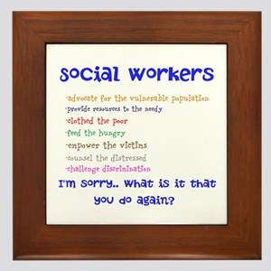 Social Work Framed Tile