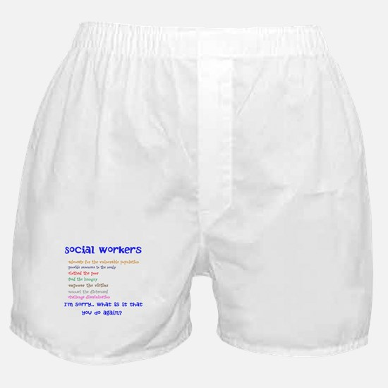 Social Work Boxer Shorts