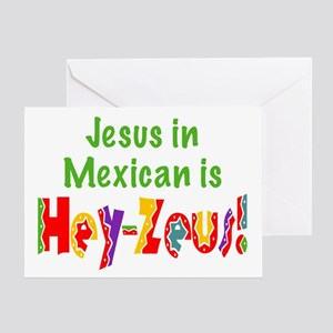 Jesus in Mexican Greeting Card